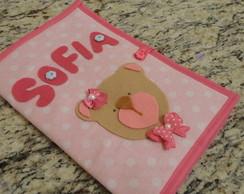 Porta cart�o de Vacina - Ursinha Rosa