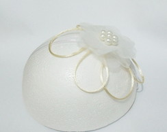 Fascinator Princess nude flor voil 5cm
