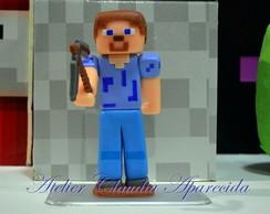Topo de bolo Minecraft boneco