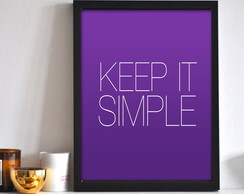 Poster Keep It Simple