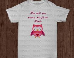Camiseta Gestante - Mam�e Coruja