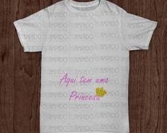 Camiseta Gestante -Aqui tem uma princesa