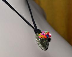 Colar Cestinha de Flores Pers�fone