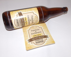 Adesivo para Cerveja Long-Neck Casamento