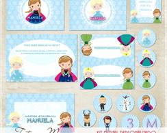 Kit Digital Frozen Festa Personalizado