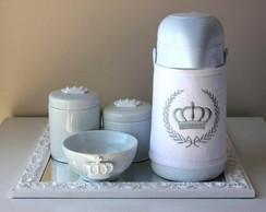 Kit Higiene Coroa Branca Garrafa T�rm 2