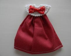 Lembrancinha vestido vermelho po� branco