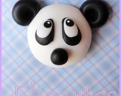 Aplique Em Biscuit Panda
