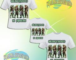 Kit Camiseta - Tartaruga Ninja 2014