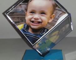 Cubo girat�rio para 6 fotos decorado