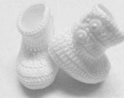 Botinha croche para bebe