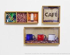 Quadro caixa - Do p� ao caf� - Cafeteria