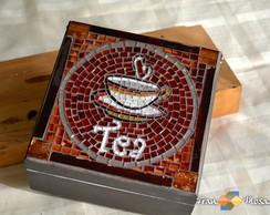 """Caixa de Ch� em Mosaico """"Tea"""""""