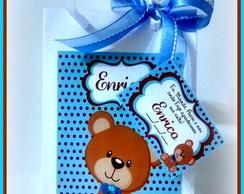 Sacolinha Personalizada ursinho Po� Azul