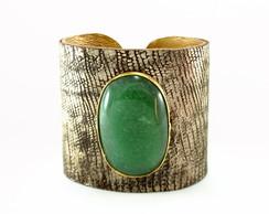 Bracelete Quartzo Verde Ouro Velho