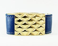 Bracelete Azul Placa Escamas