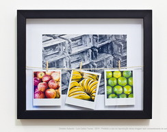 Quadro caixa - Frutas e cores - Frutaria