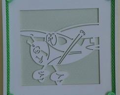 Quadrinho Vazado - Avi�o Verde