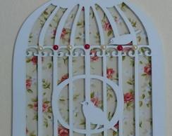 Quadrinho Gaiolinha - Floral Vermelho