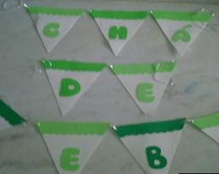 Bandeirolas em E.V.A. Ch� de Beb�