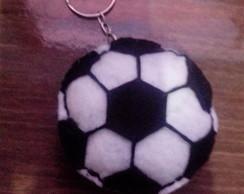 Chaveiro de Feltro em formato de bola