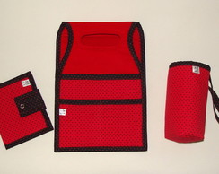 Kit Lixeira de Carro c/ 3 pe�as