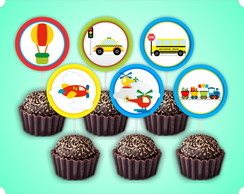 Topper Doce/Cupcake MEIOS DE TRANSPORTE