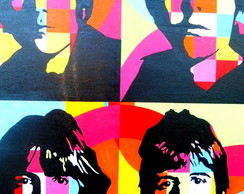 Painel Beatles Pop Art