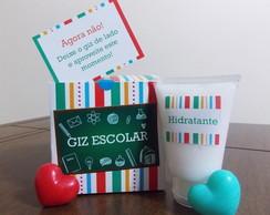 Caixa de Giz com hidratante e sabonetes