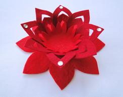 Conjunto Flor de L�tus Vermelha e Bord�