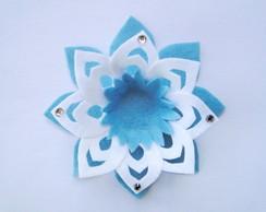 Kit Flor de L�tus Decora��o Azul Shabby