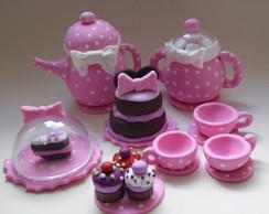 Topo de bolo em Biscuit Minnie Rosa