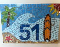 Placa N�mero Residencial Surf