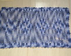 Tapetinho de barbante (barroco azul)