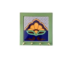 Porta-chaves azulejo L�tus - Verde