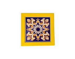 Quadro Azulejo Arabesco - Amarelo