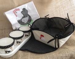 Kit Cozinha Galinha com Vela
