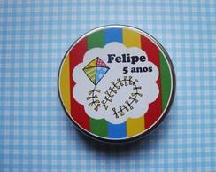 Latinha Pipa com Confete de Chocolate