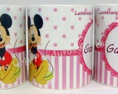 Caneca Ceramica Minie Rosa
