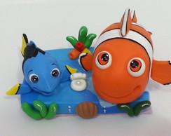 Topo de bolo Nemo com a Dori