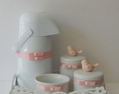 Kit Higiene Passarinhos Rosa