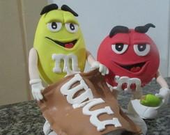 M&M'S topo de bolo de biscuit