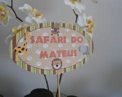 Placa/ topo de bolo safari