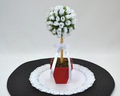 Topi�ria De Mini Rosas Brancas