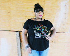 T-shirt Plus Size Vinil