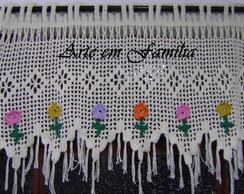 Band� de Croch� com Flores