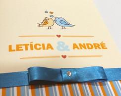 Convite de Casamento modelo Love Birds,
