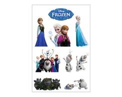 3 Cartelas de Adesivos Frozen