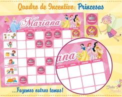 Quadro de Incentivo Princesas