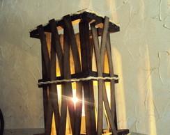 abajur de mesa rustico entrela�ado